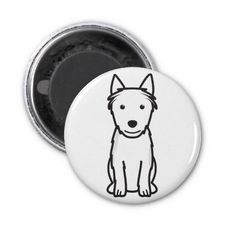 Australian Terrier Dog Cartoon Magnets