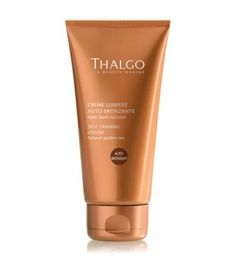 Thalgo Self-Tanning Cream is a gel-cream tailored to all skin types for a golden and incredibly natural colour. Strengthened with aloe vera, the skin is regenerated.