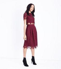 fcb5031ebb7 Burgundy Tulle Hanky Hem Midi Skirt