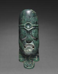Elongated Mask Ornament, c. 900-300 BC                                       Mexico, Olmec, 1200-300 BC
