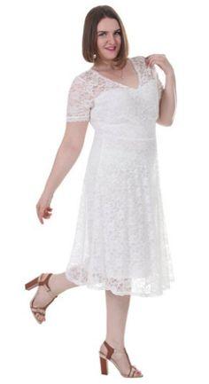 4f15052f2530 Women s Plus Double V Neck Sheer Sleeve Full Lace Dress Size 1X-5X Lace  Dress