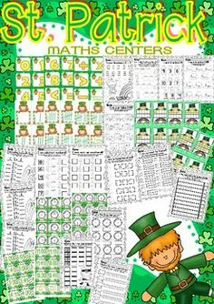 St. Patrick Maths and Literacy Centers (7 complete Centers)