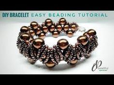 patterns with beads 2 in 1 party wear bracelet💖 Beaded Bracelets Tutorial, Beaded Bracelet Patterns, Bracelet Designs, Handmade Bracelets, Embroidery Bracelets, Beaded Earrings, Earrings Handmade, Making Bracelets With Beads, Diy Schmuck