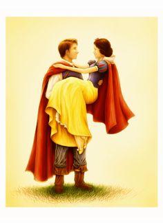 Snow White and Prince by Wraifen - Snow White and the Seven Dwarfs Walt Disney, Disney Couples, Disney Films, Run Disney, Disney Magic, Disney Characters, Disney Dream, Disney Love, Snow White Prince