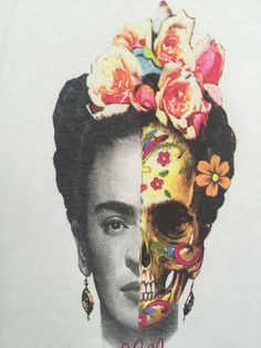 FRIDA KAHLO SKULL T shirt Frida Collection by TheTreeHead on Etsy
