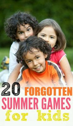 We have 20 forgotten summer games for kids that are fun. Choose from fun outdoor games for kids while others are indoor games for kids for those rainy days.These summer games are amazing for kids! Indoor Games For Kids, Fun Outdoor Games, Free Games For Kids, Outdoor Activities, Kid Games, Backyard Games, Fun Activities, Children Games, Party Outdoor