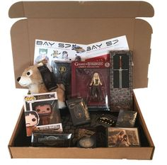 Game of Thrones Mystery Box - Crammed full of Game of Thrones Goodies! Game Of Thrones Outfits, Game Of Thrones Merchandise, Cheer Me Up, Mystery Box, Consumerism, Goodies, Gift Wrapping, Awesome Box, White Things