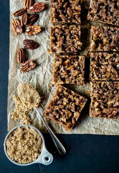 Vegan Maple Pecan Bars- Are you ready for the perfect fall dessert? Vegan Maple Pecan Bars are the ultimate sweet treat for autumn!