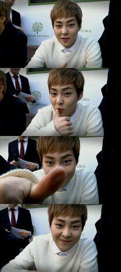 Omo super duper cutieeee >.< #EXO #Xiumin
