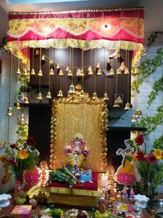 Ganesh Pooja, Shree Ganesh, Ganapati Decoration, Ganesh Idol, Ganesh Images, Durga Puja, Lord Ganesha, Diwali, Temple