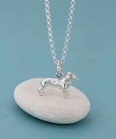 Sterling Silver Dachshund Pendant Necklace