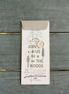 Wedding Trends: Wedding In The Woods #weddinginvitation