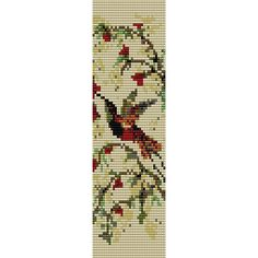 Hummingbird 2 Loom Bead Pattern Bracelet Pattern Bookmark