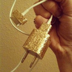 DIY mod podge glittered charger.  This would make it easier to find!