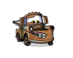 """Mater with braces. """"NEVER pick yer teeth with yer tow hook when ya's got braces on 'em!"""" said Mater (from the Cars movie)"""