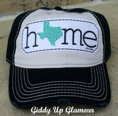 Turquoise Texas Home Baseball Cap - SHOP NEW ARRIVALS - $24.95 - www.gugonline.com