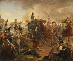 Death of the Duke of Brunswick at Waterloo- by J. F. Matthai