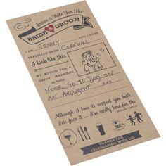 Ginger Ray Vintage Affair Wedding Advice Cards                              …