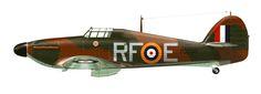 Hawker Hurricane Mk.I 'RF-E' P3700, del Sqn. polaco 303 BFD