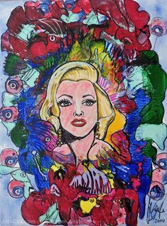 Artwork >> Jürgen Grafe >> MARILYN MONROE  #artwork, #oil, #marilyn, #monroe, #blond, #celebrity, #masterpiece, #oiloncanvas