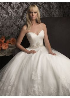Fashionable Sweetheart A-Line Organza Bridal Wedding Dress