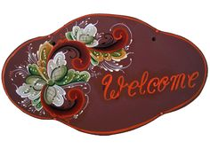 rosemaling patterns | Welcome Sign #106RRW+W