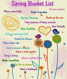 Spring Bucket List - Free Printable on Lily Razz!