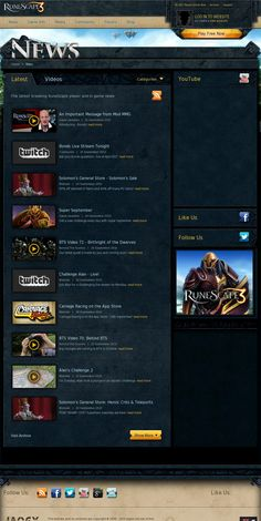 RuneScape News - Latest Game News & Updates Latest Games, Web Inspiration, Bts Video, News Update, Latest Video, Messages, Website, Youtube