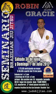 Seminario Robin Gracie. BJJ El Salvador 2012. $75