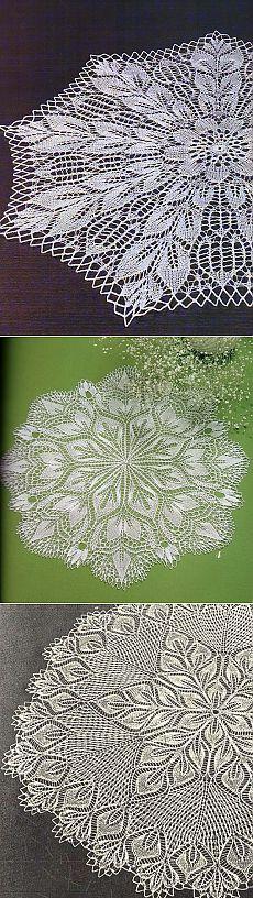 Салфетки спицами | Записи в рубрике Салфетки спицами | Дневник Lyuda52