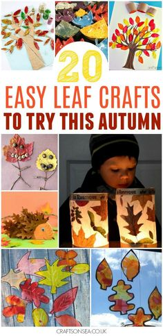 These easy autumn leaf crafts are the perfect way for kids to celebrate the change in season. Fall leaf crafts including suncatchers, lanterns and bowls