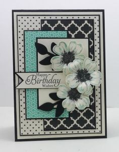 Stampin' Up! - Modern Medley DSP / Flower Shop / Pansy punch by aisha
