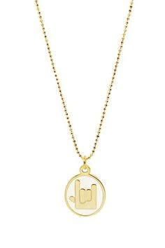 Love Sign Necklace by Erica Anenberg on @HauteLook
