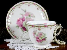 Tea Cup and Saucer Royal Winchester Porcelain by TheVintageTeacup
