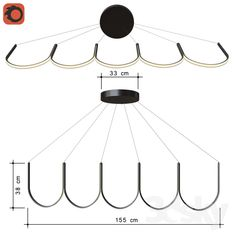 chandelier pendant ARPEL Lighting U5