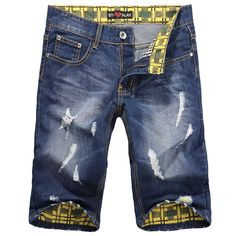Original Brand Denim Shorts Mens Jeans Brand Designer 2014 Summer Shorts Men Free Shipping  $17.00