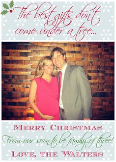 Our maternity / expecting / pregnancy Christmas card