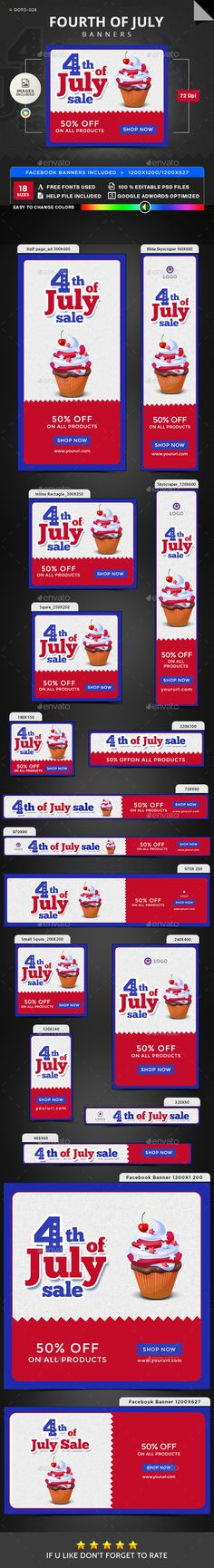 July 4th Sale Banners