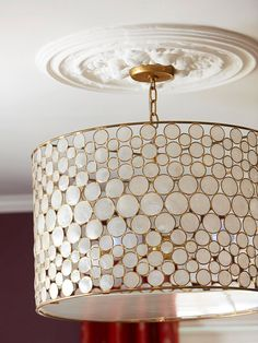 Spiff Up the Ceiling  Ceiling medallions spice up special rooms, and they don't necessarily need light fixtures poking through them. Modern medallions look like plaster but are cast from lightweight polyurethane resin. Install them with finishing nails or glue