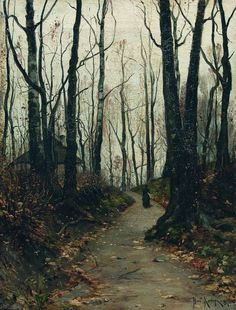 """daughterofchaos: """" Julius Klever, Woman on the Road, 1887 """""""