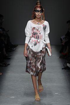 Look 1 at Vivienne Westwood #SS16 Red Label