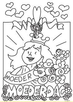 Kleurplaten Moederdag Oma.94 Beste Afbeeldingen Van Moederdag Kleurplaten