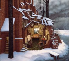The snow is not permitted - Jacek Yerka