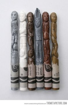 funny-crayons-art-carving-sculpture - Very clever!