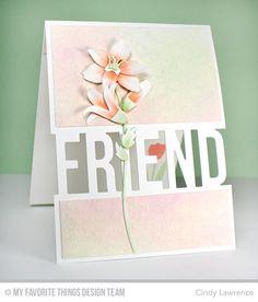 Friend Die-namics, Lily Die-namics - Cindy Lawrence #mftstamps
