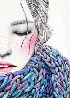 Kai Fine Art is an art website, shows painting and illustration works all over the world. Art And Illustration, Amazing Drawings, Art Drawings, Art Amour, Dibujos Cute, Love Art, Art Forms, Female Art, Illustrators