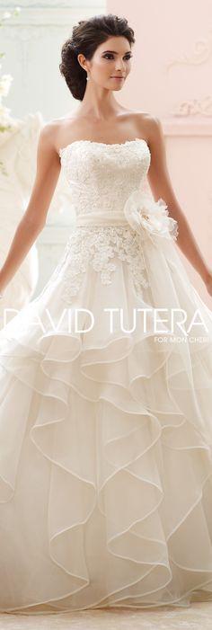 The David Tutera for Mon Cheri Fall 2015 Wedding Gown Collection -
