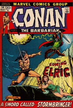 Conan the Barbarian #14. Conan meets Elric. Art by Barry Smith.  #Conan #Elric #BarryWindsorSmith