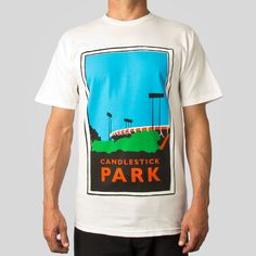 """From windy baseball games to Joe Montana to the final Beatles concert, """"The Stick"""" had seen it all... Classic Fit, 5.5oz 100% Cotton Men's T-Shirt in White"""