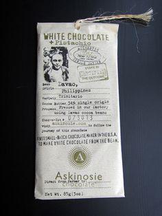 Askinosie White Chocolate and Pistachios